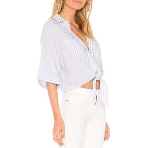 cupcakes and cashmere Saundra Striped Dolman Top